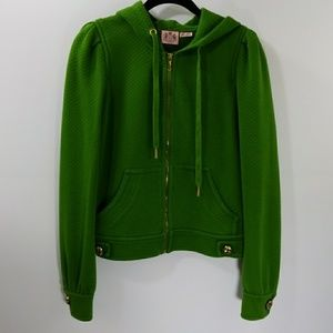 Juicy Couture green hooded jacket size S